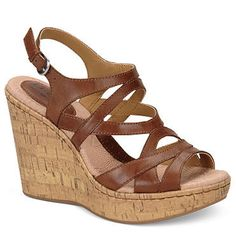 "BOC by Born ""Brygida"" Wedges in Saddle, $69.99"