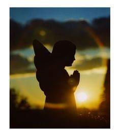 "Praying Angel Silhouette.  Repinned by An Angel's Touch, LLC, d/b/a WCF Commercial Green Cleaning Co. ""Denver's Property Cleaning Specialists"" http://angelsgreencleaning.net"