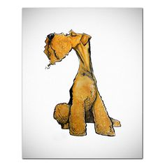 Prints from artist John LaFree- hand signed and matted . Airedale Terrier, Irish Terrier, Terrier Dogs, Dog Pop Art, Dog Art, Animals And Pets, Cute Animals, Wire Fox Terrier, Bird Pictures
