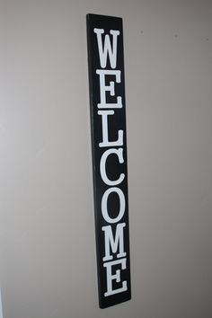 wood welcome sign vertical welcome sign by treehousedesignz
