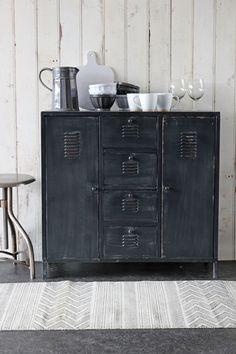 industrial locker style cabinet