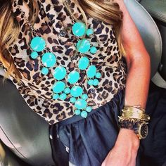 If you know me at all, you know I love to wear two things: maxi skirts and leopard print. Put the two together and, well, it's just perfection in my eyes. Plus, a bold pop of color never hurt anyone!