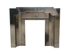 UNUSUAL ORIGINAL STAINLESS STEEL ART DECO FIREPLACE - UK Architectural Heritage