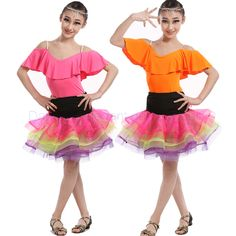 >> Click to Buy << New girls latin dance costumes sexy senior spandex short sleeves+short skirt 2pcs latin dance set for girls latin dance suits #Affiliate