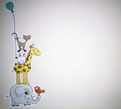 muurschildering babykamer schattig - Google zoeken