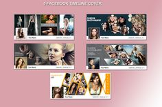 Photography facebook timeline 5 in 1 by Template Shop on Creative Market