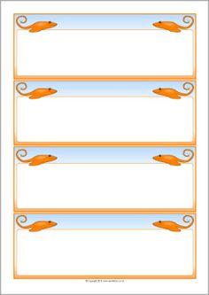 Stingray-themed editable communication slips (SB10684) - SparkleBox