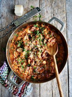 One pot pasta med kjøttsaus - Mat På Bordet One Pot Pasta, Paella, Food And Drink, Ethnic Recipes