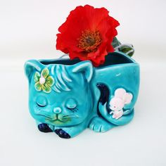 vintage cat planter - Yahoo Image Search results