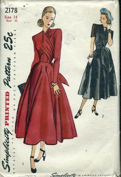 New photos on this wiki - Vintage Sewing Patterns, Simplicity 2178 wikia.jpg