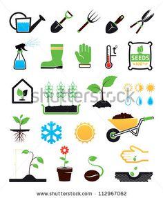 Gardening icons set by Nevada31, via ShutterStock