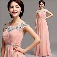 t pink chiffon Mother of the Bride Dresses women 2014 plus size crytal dress party girl .high quatuily