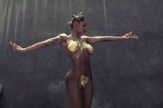 "Teyana Taylor Gets Showered With Gold Flakes for ""Champions"" Freestyle Video"