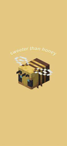 Minecraft bee wallpaper - Minecraft, Pubg, Lol and Cute Wallpaper Backgrounds, Cartoon Wallpaper, Cool Wallpaper, Cute Wallpapers, Cute Background Pictures, Pastel Background, Cellphone Wallpaper, Iphone Wallpaper, Bee Drawing