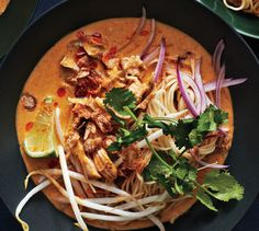Chicken Khao Soi: A simple curry paste gives this northern Thai–inspired soup surprising depth of flavor.