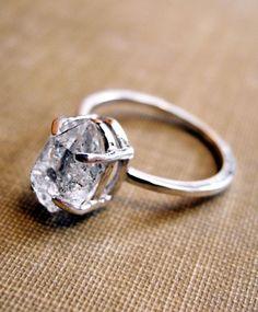 herkimer Raw diamond ring.