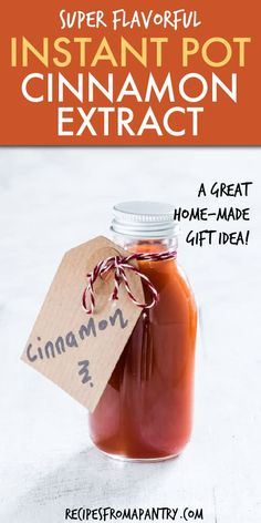 can make homemade Cinnamon extract in your Instant Pot ready to use in as little as 1 day! Instant Pot Cinnamon Extract is ready in a fraction of the time and perfect for recipes like snickerdoodles and cinnamon rolls.You can make homemade Cinnamon . Gooey Cinnamon Rolls Recipe, Pillsbury Cinnamon Rolls, Cinnamon Rolls From Scratch, Cinnamon Roll Cheesecake, Pumpkin Cinnamon Rolls, Sweet Breakfast, Breakfast Dessert, Instant Pot, Cinnamon Extract