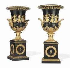 Empire style bronze urns
