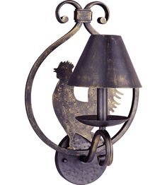 Maxim Country French 1 Light Wall Sconce in Kentucky Bronze 7766KB