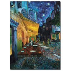 Vincent van Gogh Cafe Terrace Canvas Art - Overstock™ Shopping - Top Rated Trademark Fine Art Canvas