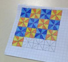 Forme geometriche Graph Paper Drawings, Graph Paper Art, Art Drawings, Art Minecraft, Skins Minecraft, Blackwork, Notebook Art, Math Art, Sharpie Art