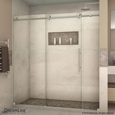 DreamLine SHDR-61727610 Enigma-X 68 to 72 x 76 Inch Sliding Shower Door
