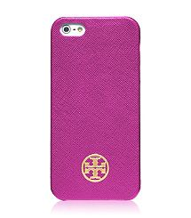 Tory Burch Robinson Saffiano Hardshell Case for iPhone 5s -Royal Fuchsia