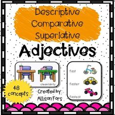 A great way to teach and assess descriptors and modifiers!