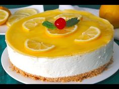 Easy Youtube, Easy Cake Recipes, Cheesecakes, Easy Meals, Lemon, Pudding, Desserts, Flan, Yummy Recipes
