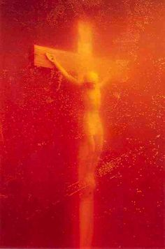 Andres Serrano's Piss Christ Destroyed