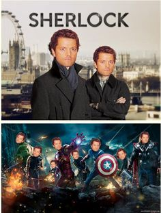 Misha invades different fandoms as made by timetravellinowl.tumblr.com Click to see the full series