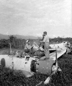 A6M's wrecks At Lae, New Guinea, 9/18/1943.