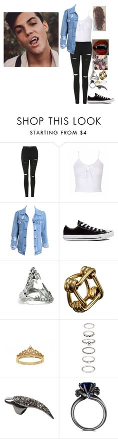 """The girl with strings//g.d"" by lifeasgege ❤ liked on Polyvore featuring Topshop, Converse, Kasun, Reed Krakoff, Eternally Haute, Forever 21, Mi Lajki and Dolan"