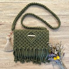 Channel a more casual vibe with an over the shoulder bag (with a removable strap. Channel a more casual vibe with an over the shoulder bag (with a removable strap of course to transform her back int Crochet Vintage, Macrame Purse, Bespoke Clothing, Over The Shoulder Bags, Macrame Patterns, Micro Macrame, Casual Bags, Handmade Bags, Shoes Handmade