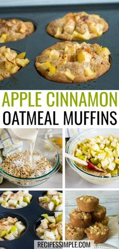 These Apple Cinnamon Oatmeal Muffins make a delicious breakfast or snack. Made w… These Apple Cinnamon Oatmeal Muffins make a Apple Oatmeal Muffins, Apple Cinnamon Oatmeal, Cinnamon Apples, Oatmeal Breakfast Muffins, Oatmeal Cups, Baked Oatmeal, Oatmeal With Apples, Healthy Apple Cinnamon Muffins, Oat Pancakes