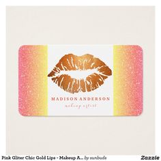 Pink Gliter Chic Gold Lips - Makeup Artist