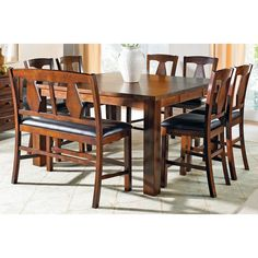 Tanshire counter height dining room table 262 liked on for Dining room tables 38 inches wide