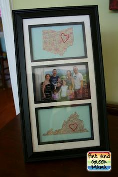 Map craft- great for a picture of you and your husband