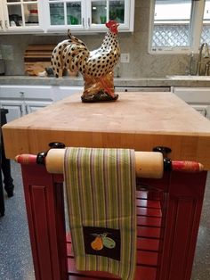 Grandma s rolling pin gets a new purpose, dining room ideas, kitchen design, repurposing upcycling Source by condoblues Farmhouse Kitchen Island, Old Kitchen, Kitchen Redo, Vintage Kitchen, Kitchen Remodel, Farmhouse Decor, Kitchen Islands, Kitchen Layout, Kitchen Island On Wheels