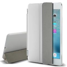White Flip Magnetic Leather Smart Cover Stand Case for Apple iPad Mini 1 2 3