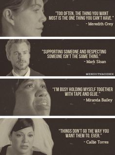Four of the greatest life lessons come from the one and only Grey's Anatomy.