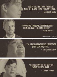 Meredith, Mark, Miranda, and Callie