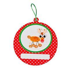 Christmas gifts Thumbprint Reindeer Christmas Ornament Craft Kit -  #ReindeerHandprint #reindeerhandprint Reindeer Handprint, Christmas Ornament Crafts, Craft Kits, Holiday Decor, Christmas Decoration Crafts