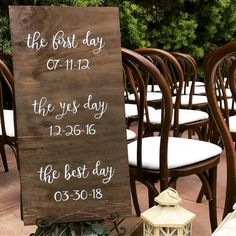First day, Yes day, Best day! I love making custom signs for my couples. Rose Wedding, Wedding Day, Cabbage Roses, Rustic Signs, One Day, Signage, Weddings, My Love, Couples