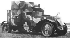 Latvian armored car Austin Mk. 2 «Zemgalietis».After modernization in 1920
