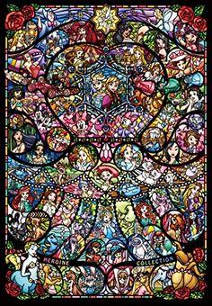 1000 Piece Jigsaw Puzzle Stained Glass Art Disney Pixar Heroine Collection F/S Disney Pixar, Disney Marvel, Draw Disney, Cute Disney, Disney Drawings, Disney And Dreamworks, Disney Magic, Disney Art, Walt Disney