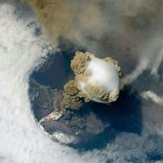 Guatemala volcano eruption from space