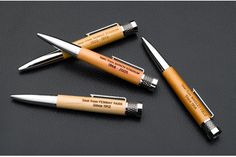 As Seen on the Today Show!  There isn't a better gift for the Baseball fans in your life, and a true collector's item. These pens are beautifully crafted. Barrels and disc at top are made from wooden seats from historic stadiums.