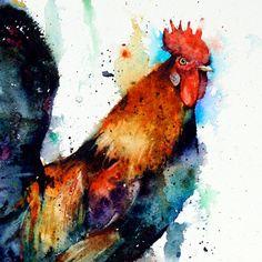 COQ aquarelle Print par Dean Crouser par DeanCrouserArt sur Etsy, $25.00