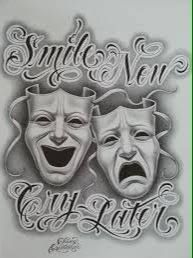 Image result for smile now cry later tattoo designs